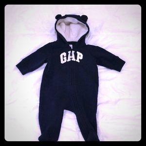 Baby Gap hoodie onesie 0-3 month